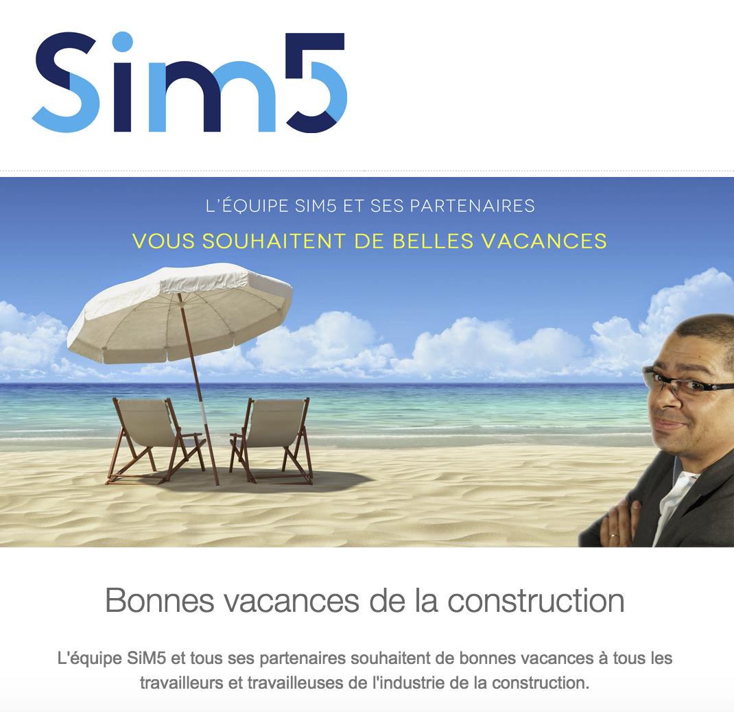 Bonnes Vacances de la construction du Québec
