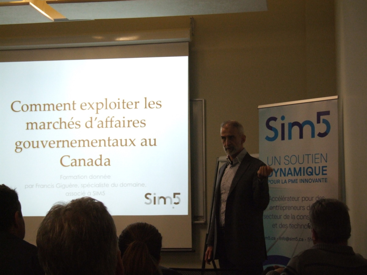 Francis Giguère, Conférencier SiM5