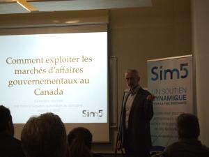Francis Giguère, Conférencier SiM5 rénovation Comment exploiter les marchés d'affaires gouvernementaux au Canada