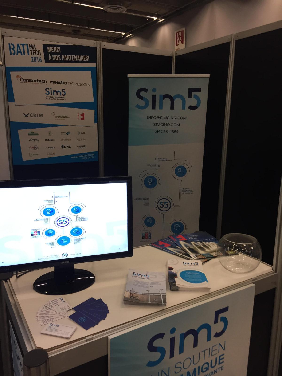 Le stand de SIM5 à Stratégies PME