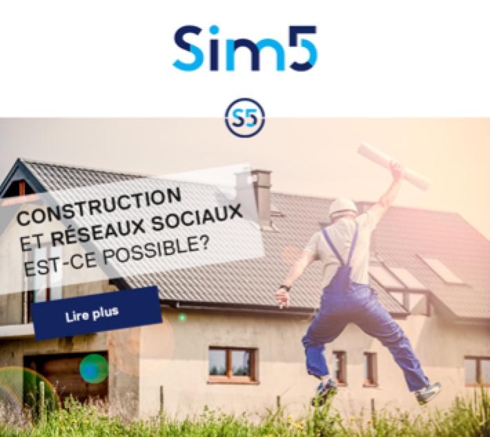 construction et reseaux sociaux est ce possible sim5