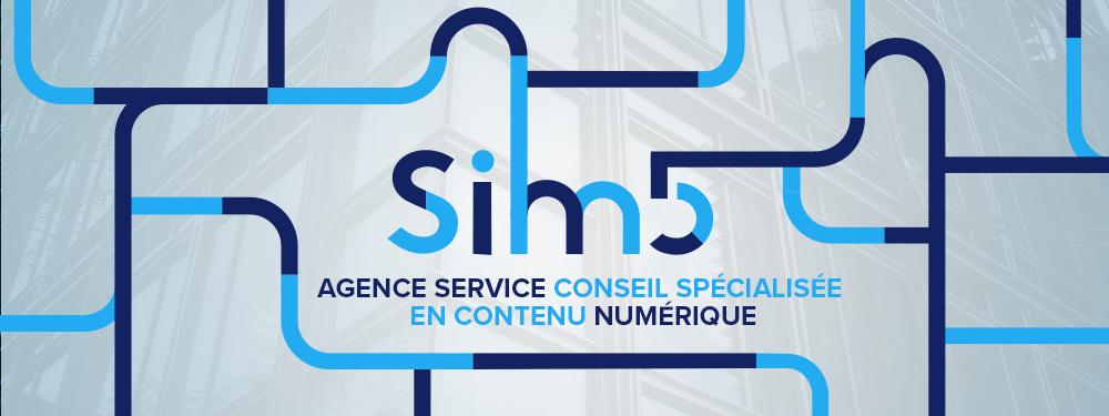 bannière sim5 agence de service conseil spécialisée en contenu numérique